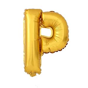 Amazoncom hihaoxj 40 inch helium foil mylar matte gold for Foil letter balloons amazon