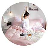 Emoji Bed Set Walmart Nordic Bedding Set 100% Cotton Duvet Cover Bedspread Flat Fitted Sheet Set Twin Queen Bed Linen Set Double Bedclothes,008,Cover 200x230 4PCS,Flat Sheet Set