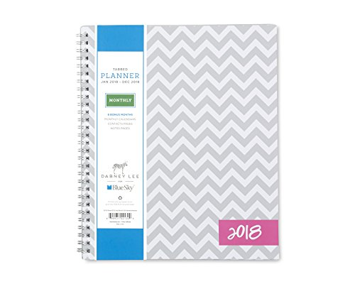 Blue Sky 2018 Monthly Planner, Twin-Wire Binding, 8 x 10, Ollie