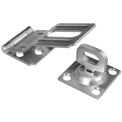 Post Safety Hasp - National Hardware N226-480 SPB32 Swivel Staple Safety Hasp in Zinc plated