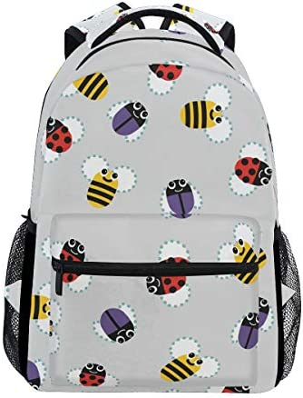昆虫ミツバチカジュアルバッグ リュック リュック ショルダーバッグ 流行 おしゃれ 人気 ラップトップバッグ こども 通勤 通学