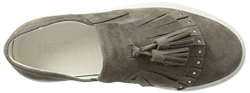 Liebeskind Berlin Ladies Lh173070 Sneaker In Pelle Scamosciata Grigio (grigio Strada)