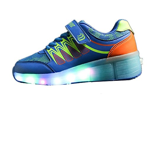 Believed Roller Skate Shoes Multi-Color LED Lighting Sport Sneakers for Little Kid/Big Kid