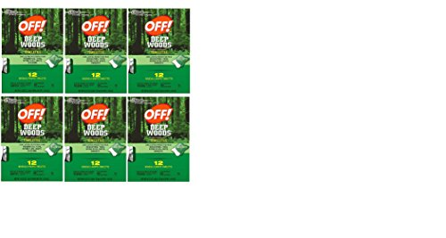 Off Deep Woods Towelettes (Pack - 6) (Towelettes Wood)