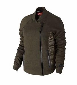 Wmns Nike Aeroloft Tech Fleece Moto Jacket (683938-325) Retail $250.00 Sz Xs