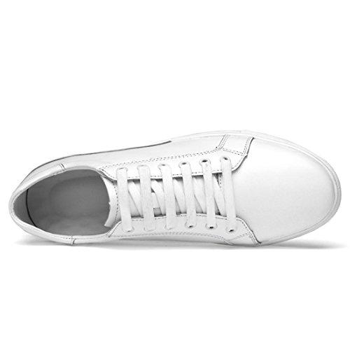 Minishion Pojkar Mens Fast Promenadskor Mode Sneakers Vita