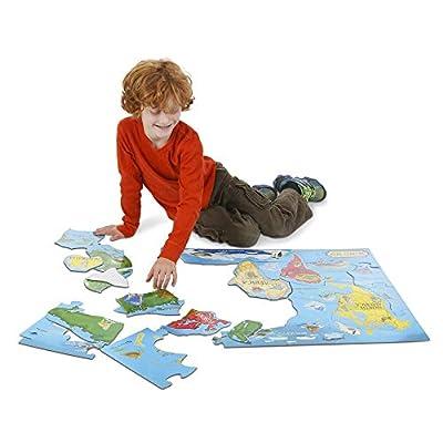 Melissa & Doug World Map Floor Puzzle - 33 Pcs: Melissa & Doug: Toys & Games
