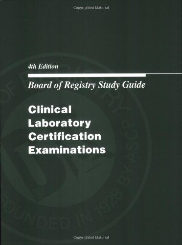 Board of Registry Study Guide: Clinical Laboratory Certification Examinations (Book Only)