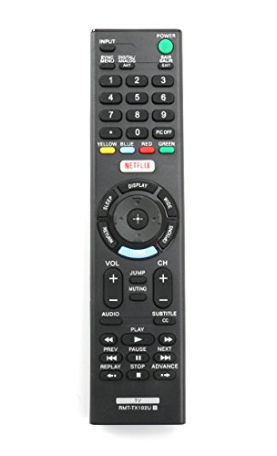 New RMT-TX102U Replaced Remote fit for Sony TV KDL-32R500C KDL-40R510C KDL-40R530C KDL-40R550C KDL-48R510C KDL-48R530C KDL-48R550C 149298011 KDL40R550C KDL48R510C KDL-48W650D KDL-40W650D KDL-32W600D (Sony Tv Remote)