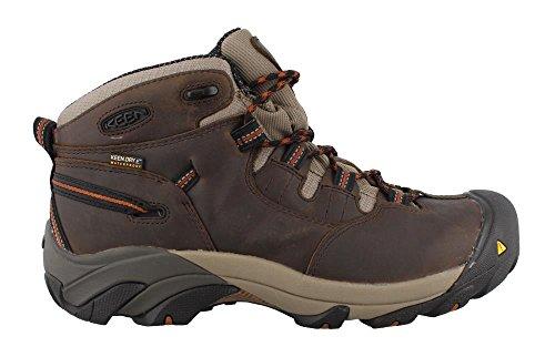 Keen Utility Mens Detroit Mid Soft Toe Work Boot Black Olive 10 Ee Us