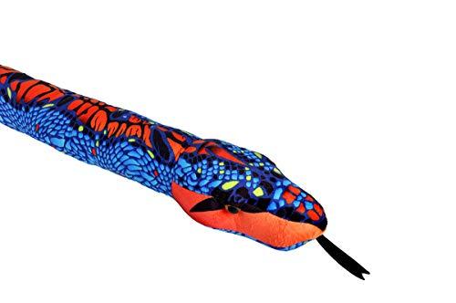(Wild Republic Snake Plush, Stuffed Animal, Plush Toy, Kids Gifts, Pet Snake, Blue Orange, 54