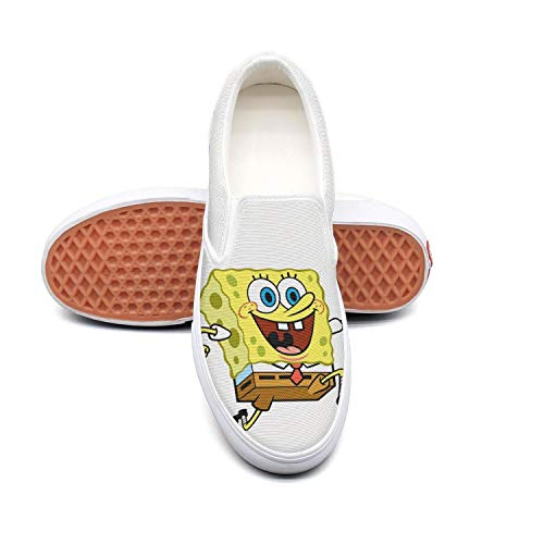 Shihangya Man Famouse-Cartoon-Spongebob- Canvas Shoes Casual Loafers Shoes Sneaker ()