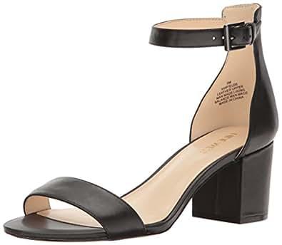 Nine West Women's Fields Leather Dress Sandal, Black, 5.5 M US
