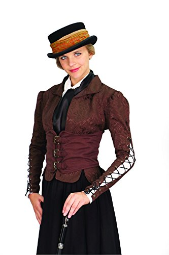 Victorian Corset Costumes (Winchester Brown Ladies Corset Coat Steampunk Victorian Costume (Large))