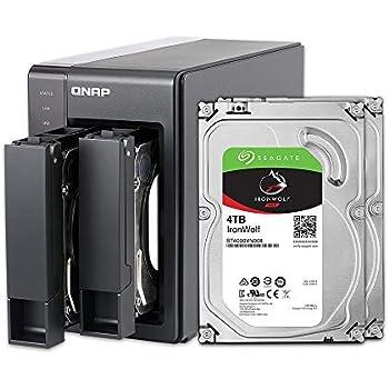 QNAP 2-Bay, 8TB(2x4TB NAS Drive) Intel 2 0GHz Quad-Core CPU  (TS-251+-8G-24R-US)