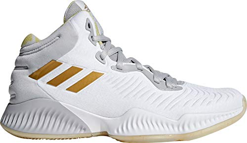 adidas Men's Mad Bounce 2018 Basketball Shoes (13, White/Gold)