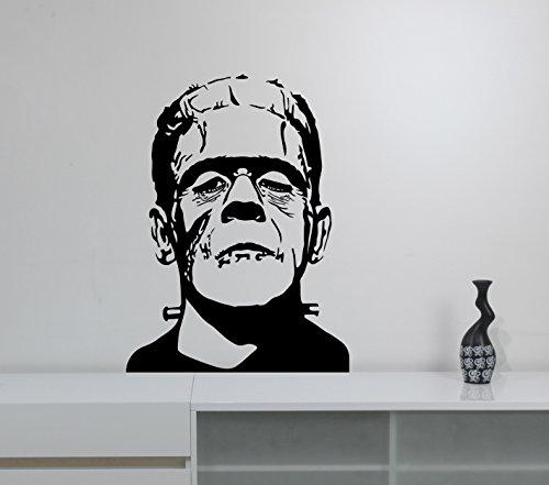 Frankenstein Vinyl Sticker Decal Horror Monster Art Comics Movie Decorations for Home Housewares Dorm Room Bathroom Office Wall Decor Ideas (Names Of Monster High Characters)