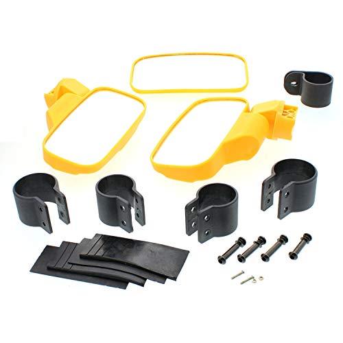 NICHE Yellow UTV Side & Rear View Mirror Kit for John Deere XUV 590 620i 625i 825