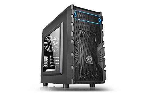Thermaltake Versa H13 Window Black SPCC Micro ATX Gaming Computer Case CA-1D3-00S1WN-00