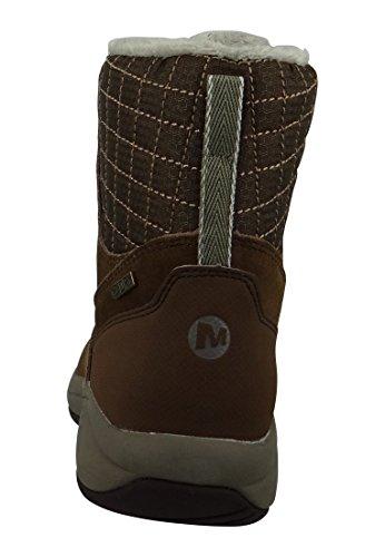 Zapatos Merrell botas de invierno Jovilee Artica impermeable tierra oscura Silver Lining J310555C de Brown Dark Earth/Silver Lining