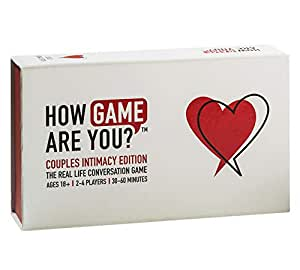 HOW GAME ARE YOU? Intimacy Game. The BRAND NEW Adult Board Game with Questions & Activities to help expand your relationship. Great couples game cards, as a gift for couples or date night cards for a better relationship. 203 cards & Australian developed..