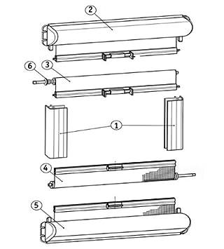Dometic Seitz Mini-Doppelkassettenrollo perl 830x700