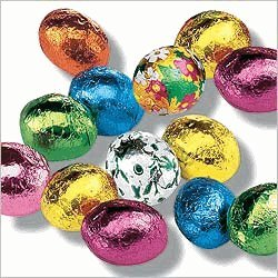 Premium Solid Milk Chocolate Easter Eggs (1 Lb - 63 Pcs)