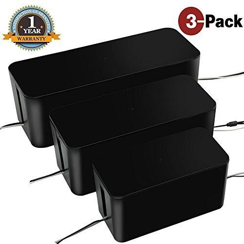 Organizador de cajas de gestión de cables por U-miss, caja organizadora de electrónica para computadora, TV, computadora,...