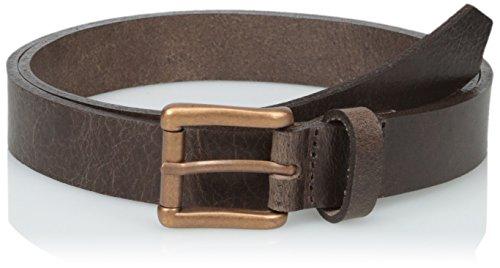 Naked & Famous Denim Men's Brown Buffalo Leather 1 Inch Belt, Brown, 32 Leather Naked Buffalo
