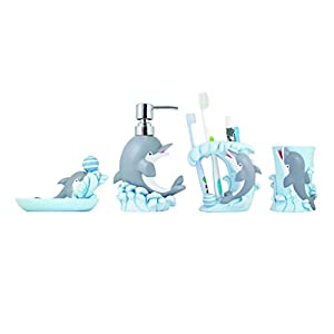 41%2BTOHraDSL._SS300_ 70+ Beach Bathroom Accessory Sets and Coastal Bathroom Accessories 2020