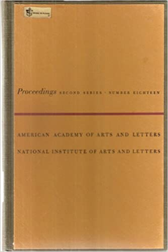 Proceedings of the American Academy of Arts and Letters and the