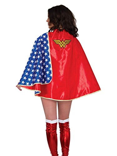 Rubie's Costume Co Women'sDCComicsWonderWomanDeluxe30-InchCape,Multi,OneSize ()