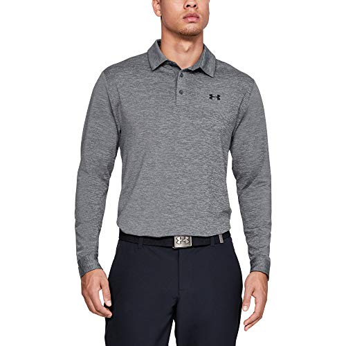 Under Armour Playoff 2.0 Polo Long sleeve, Pitch Gray//Black, X-Large