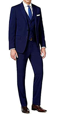 Calvin Klein Men's X-Fit Solid Extra Slim-Fit Vested Suit
