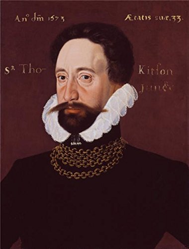 Oil Painting 'George Gower - Sir Thomas Kytson,1573', 16 x 21 inch / 41 x 54 cm , on High Definition HD canvas prints is for Gifts And Bar, Basement And Home Office Decoration, toart