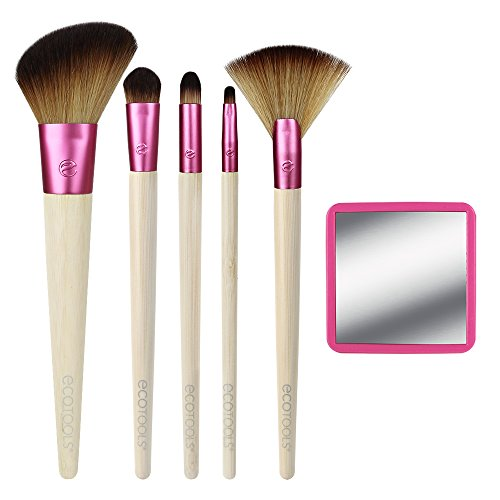 EcoTools Limited Edition Cruelty Free and Eco Friendly Glow for It Makeup Kit; Made with Recycled Aluminum and Plastic Materials; Create a Confident Look with Ease