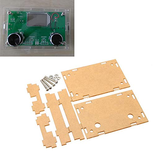 Transparent Sheet Housing Case For DSP & PLL Digital Stereo Radio Receiver Module - Arduino Compatible SCM & DIY Kits Module Board -1 x Transparent Acrylic Sheet Housing Case -