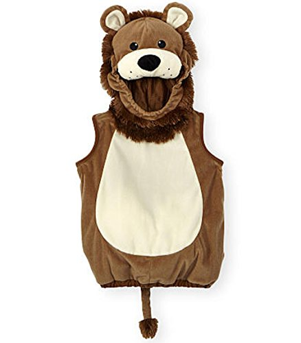 Koala Kids Baby Boys & Girls Lion Hooded Halloween Costume Vest (3-6 Months) (Preemie Halloween Costumes)