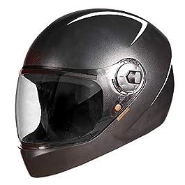 Steelbird SBH-21/WIZ Dashing Full Face Helmet Black Color Clear Visor