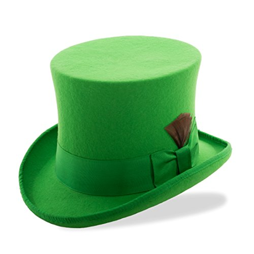M Ferrecci Kelly Green Top (Mad Hatter Top Hat)