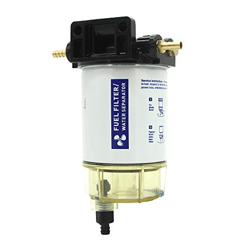 MODIFY-GT Boat Marine Outboard Fuel Filter Water Separator 10 MICRON Replace Qucksliver #35-60494-1 Gasoline Engines Only