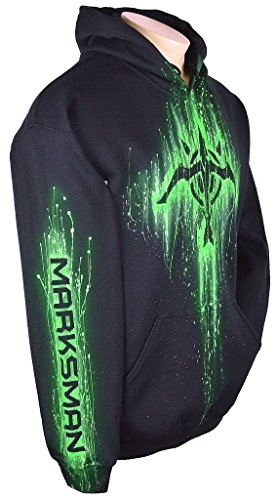Sid Vicious League Of Legends Hoodie Custom Airbrushed Marksman Design, Pullover + Name, Adult, Medium, Black