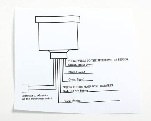 Mini-Tacho 60 mm elektronisch schwarzes Ziffernblatt