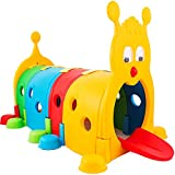 Happybuy Climb and Crawl Caterpillar Play 72 x40 Inch Climb-N-Crawl Caterpillar Tunnel Indoor Outdoor in preschools daycares Child Care Centers or at Home