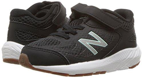 New Balance Girls' 519v1 Hook and Loop Running Shoe Black/Seafoam 2 M US Infant by New Balance (Image #6)