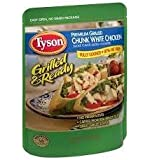 Tyson, Grilled & Ready, Chunk White Chicken, 7oz Pouch (Pack of 6)