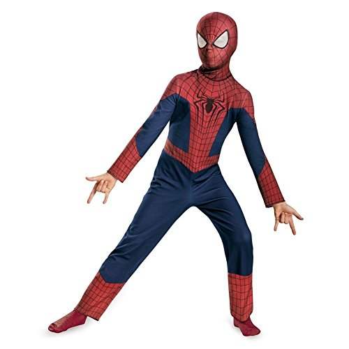 Disguise Marvel The Amazing Spider-Man 2 Movie Spider-Man Classic Boys Costume, Small/4-6