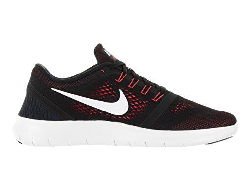 Nike Mens Free Rn Running Shoe (10.5 D(M) US, Black/Off White/Total Crimson)