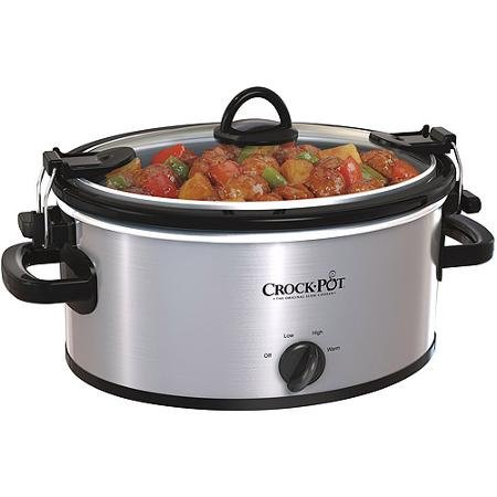 Crock-Pot 4-Quart Cook & Carry Slow Cooker (Stainless Steal)