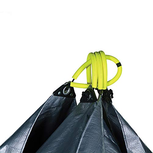 Allsop Home & Garden 31586 Clean-Up Canvas Super Duty Tarp with Interlocking Handles of 300 lb Capacity for Garden and Yard Waste